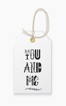 Lettering you and me