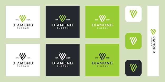 추상 다이아몬드 모양의 문자 f 모노그램 로고 프리미엄 벡터