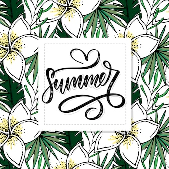 Letters made of flowers and leaves summer sale