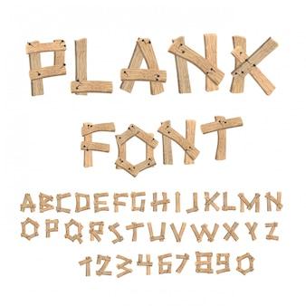 Буквы, собранные из старинного дерева.