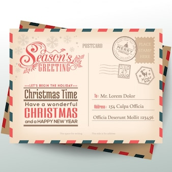 Postcard vectors photos and psd files free download letters to santa claus stopboris Image collections