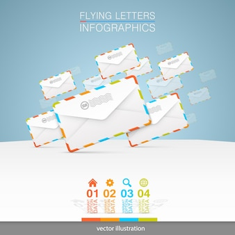 Letters on a white background art. vector illustration