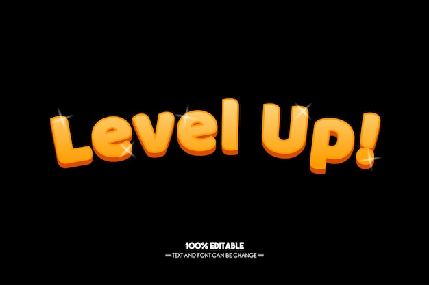 Level up! text style for game tittle