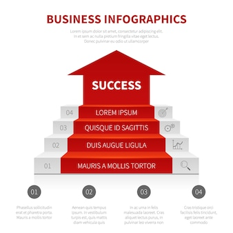 Levels of success vector modern infographic