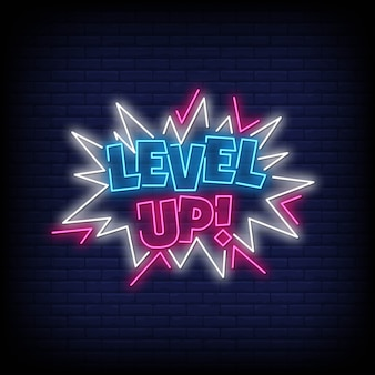Levelup neon signs style