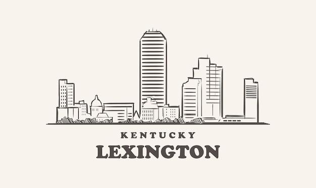 レキシントンのスカイラインケンタッキー州が描いたスケッチ
