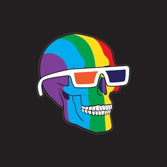 Lgbt color skull