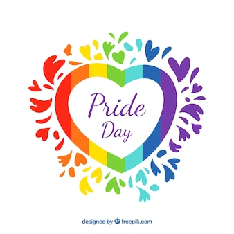 Lgbt pride background with colorful heart