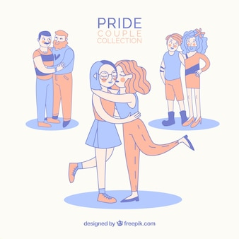 Lgbt pride couples collection