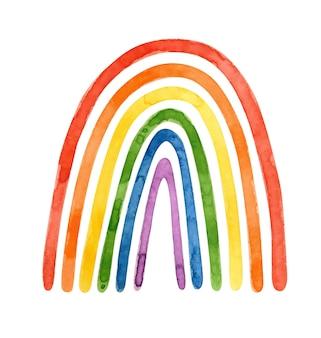 Mese dell'orgoglio lgbt - clipart dell'acquerello. arte lgbt, clipart arcobaleno per adesivi dell'orgoglio, poster, cartoline.