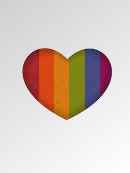 Lgbt  valentines day  background with heart frame.