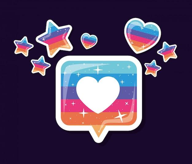 Lgtbi сердце пузырь и звезды