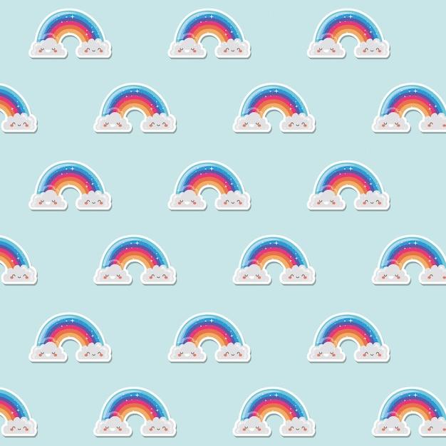 Lgtbi rainbows background design