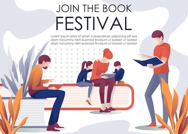 Присоединяйтесь к книжному фестивалю приглашения libebanner