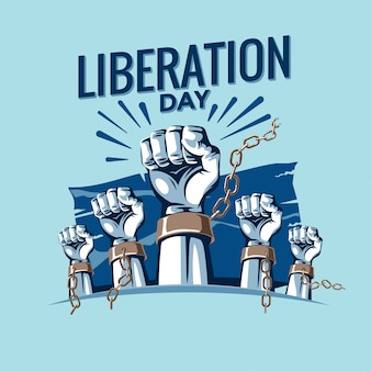 Liberation day vector illustration premium