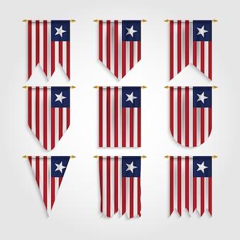 다른 모양의 라이베리아 국기, 다양한 모양의 라이베리아 국기