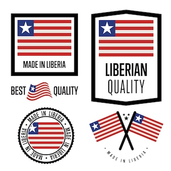 Liberia quality label set