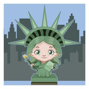Liberty statue background