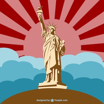 Liberty statue monument vector
