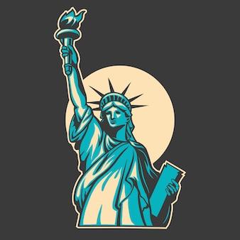 Liberty vector illustration design on dark