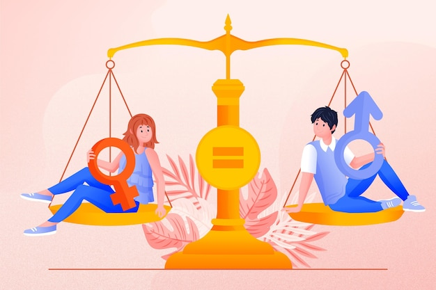 Libra and gender equality concept