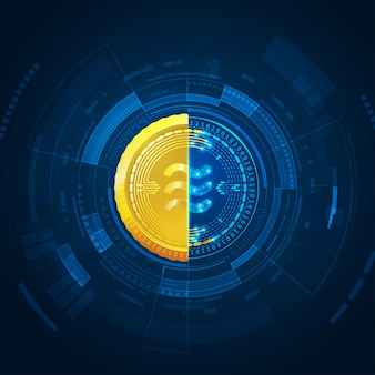 Libra, new cryptocurrency technology futuristic background