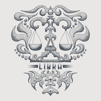 Libra zodiac vintage