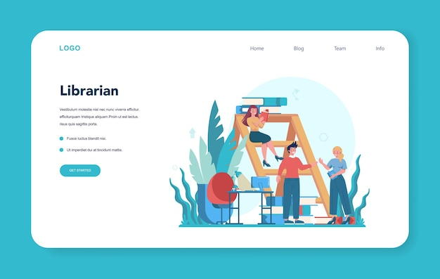 Librarian web banner or landing page