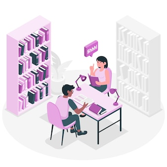 Library concept illustration