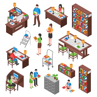 Library isometric set