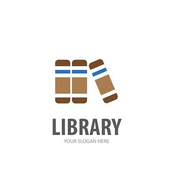 Логотип библиотеки для деловой компании. простой дизайн идеи логотипа библиотеки. концепция фирменного стиля. значок «творческая библиотека» из коллекции аксессуаров.