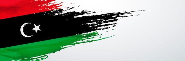 リビアのバナーフラグ Premiumベクター