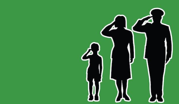 Семья солдат ливии салют патриот фон