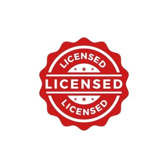 Licensed seal stamp vector