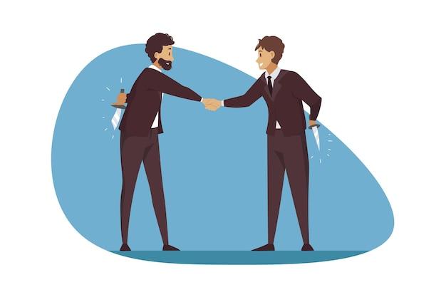 嘘の欺瞞と企業