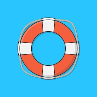 익사 구조를위한 구명 부표