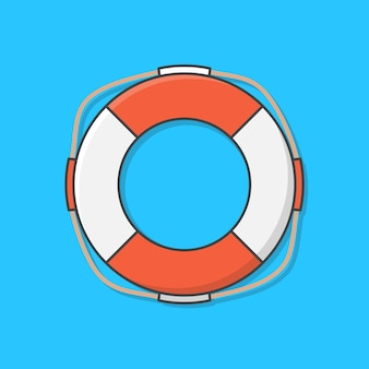 Life buoy  icon illustration. life saver for drowning rescue. life ring. concept of summer holiday