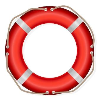 救命浮き輪、白い背景で隔離、ベクトル図