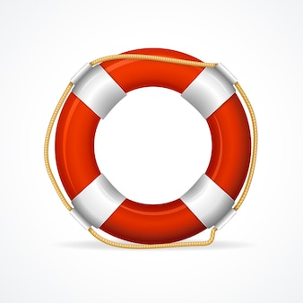 Life buoy ring red. the symbol of the life-saving.