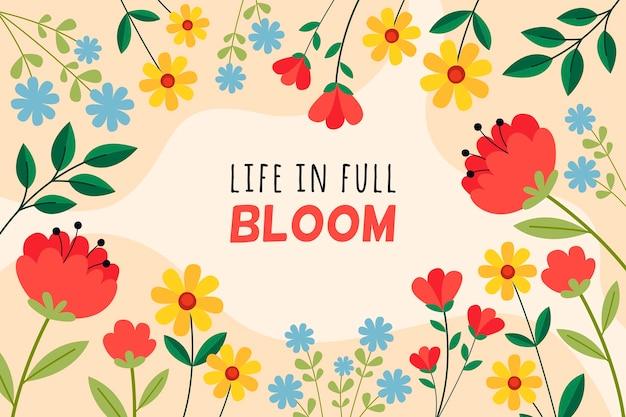 La vita in piena fioritura sullo sfondo