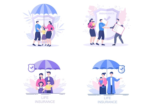 Life insurance illustrations set
