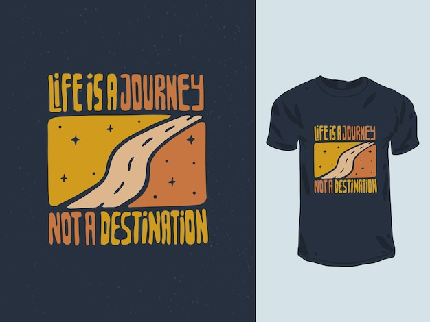 Футболка с цитатой life is a travel not destination