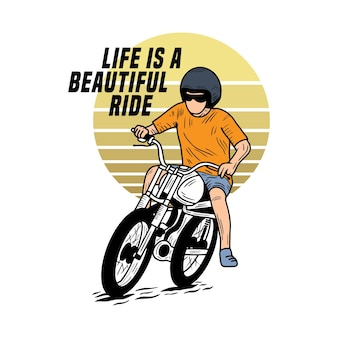 Life is beautiful ride motorcycle beach типографика для футболки с принтом пальм и мотоциклов