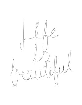 인생은 아름다운 타이포그래피 디자인입니다