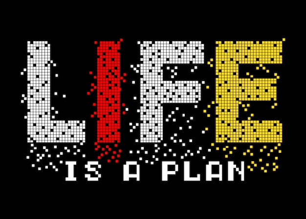 Life is plan typography for print t shirt