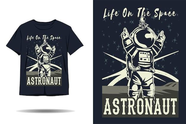 우주 비행사 실루엣 tshirt 디자인에 생활