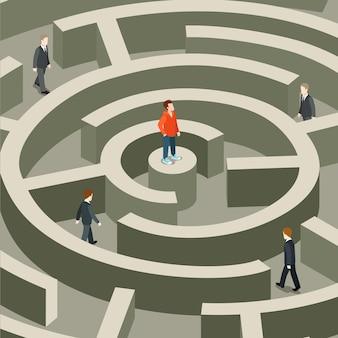 Жизнь профессиональная бизнес-ловушка плоская изометрическая