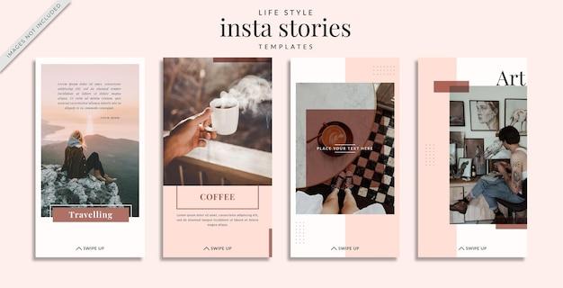 Шаблон историй instagram life style