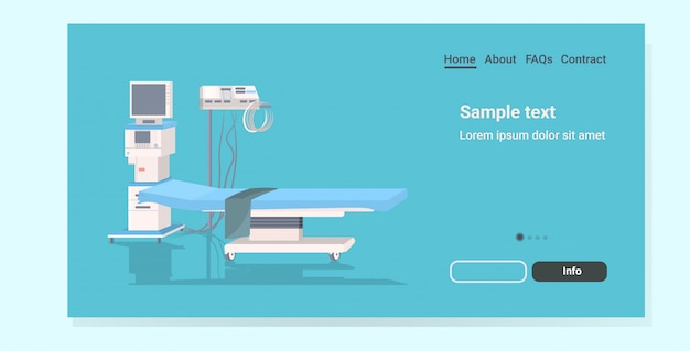Life support machine and bed landing page