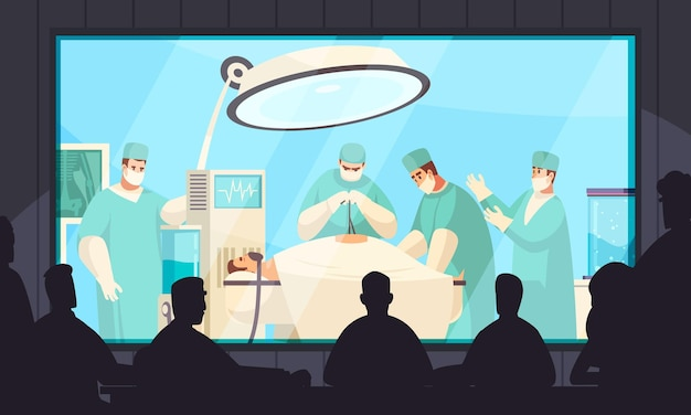 Life surgery illustration